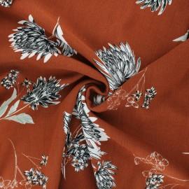 Tissu viscose froissé Eponia - cannelle x 10cm