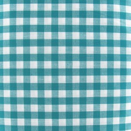Big checked Vichy fabric - blue/green x 10cm
