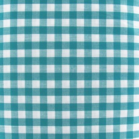Big checked Vichy fabric - blue/green x 10cm