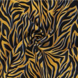 Tissu viscose Krissy - jaune moutarde x 10cm