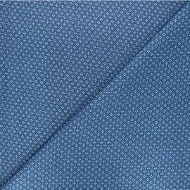 Patterned elastane jeans fabric - blue Kristy x 10cm