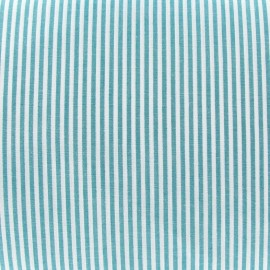 Small stripes fabric - blue/green x 10cm
