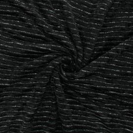 Tissu velours élasthanne lurex Live - noir x 10cm