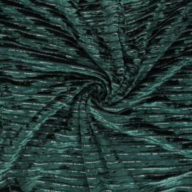 Tissu velours élasthanne lurex Live - vert x 10cm