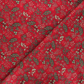 Cotton fabric - red Holly berry x 10cm