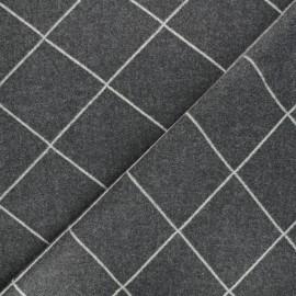Stretch wool fabric - grey Quadri x 10cm