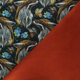 Softshell fabric - black Real fox x 10cm