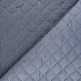 Quilted double gauze cotton fabric - dark grey Kami maxi x 10cm