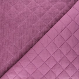 Quilted double gauze cotton fabric - fig Kami maxi x 10cm