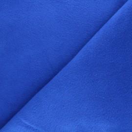 Tissu polaire coton uni - bleu électrique x 10cm