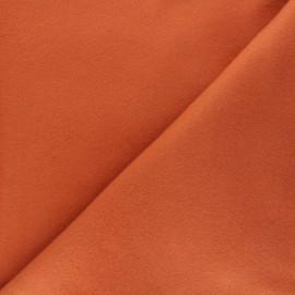 Tissu polaire coton uni - rouille x 10cm