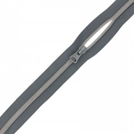 Large zip by the meter with sliders - dark grey x 1m