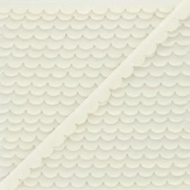 11mm velvet ribbon - raw Demi lune x 1m