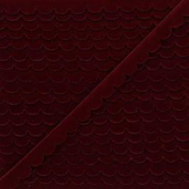 11mm velvet ribbon - burgundy Demi lune x 1m