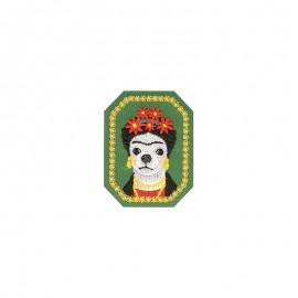Famous animals Iron-on patch - Frida Kahlo