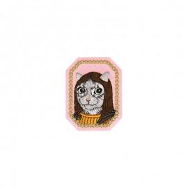 Famous animals Iron-on patch - Mona Lisa