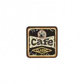 Retro food Iron-on patch - Café
