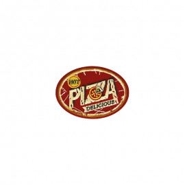 Retro food Iron-on patch - Pizza