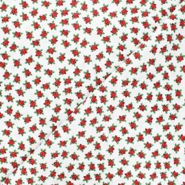 Cotton fabric - white Étoiles de noël x 10cm