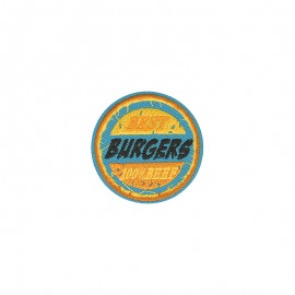 Retro food Iron-on patch - Burgers