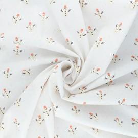 Poppy poplin cotton fabric - white X-mas Snowman x 10cm