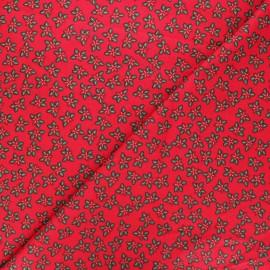 Tissu coton Étoiles de noël - rouge x 10cm
