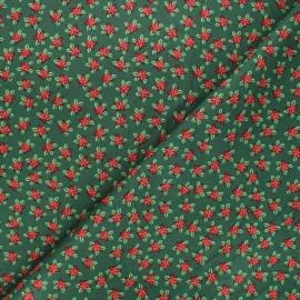 Tissu coton Étoiles de noël - blanc x 10cm