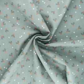 Tissu popeline de coton Poppy X-mas Holly - vert sauge x 10cm