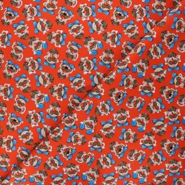 Cotton fabric - red Monsieur Patate Expressions x 10cm