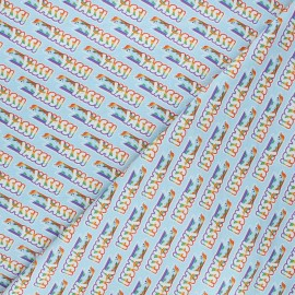 Cotton fabric - light blue My Little Pony Yass! x 10cm