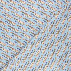 Tissu coton My Little Pony Yass! - bleu clair x 10 cm