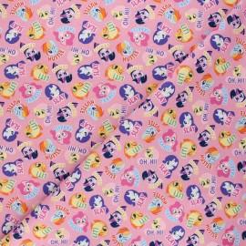 Tissu coton My Little Pony Friends - rose x 10 cm