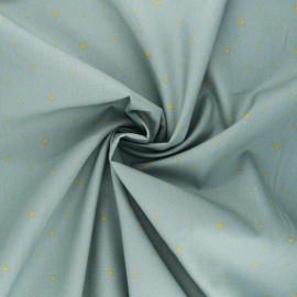 Poppy poplin cotton fabric - eucalyptus Christmas stars x 10cm