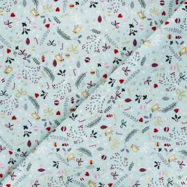 Tissu coton Pastel Christmas - céladon x 10cm