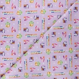 Tissu coton My Little Pony Sticker - lilas x 10 cm
