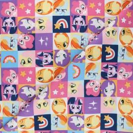 Tissu coton My Little Pony Peek-a-boo - multicolore x 10 cm