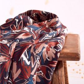 Twill viscose fabric Atelier Brunette - Hilma River x 10cm
