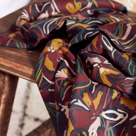 Twill viscose fabric Atelier Brunette - Hilma Rust x 10cm