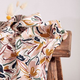 Twill viscose fabric Atelier Brunette - Hilma Off-white x 10cm