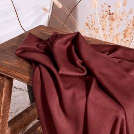 Crepe viscose fabric Atelier Brunette - Rust x 10cm