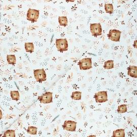Printed jersey fabric - white Bears x 10cm