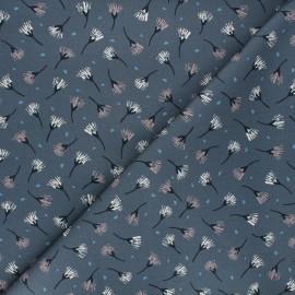 Cotton Dashwood Studio fabric - Woodland notions - grey Painted flowers x 10cm