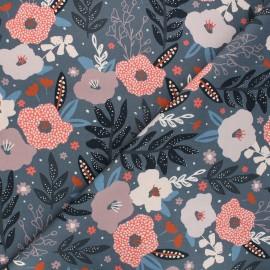 Cotton Dashwood Studio fabric - Woodland notions - grey Autumn flowers x 10cm