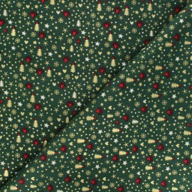 Cotton fabric - green Lovely Christmas x 10cm