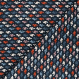 Cotton Dashwood Studio fabric - Woodland notions - night blue Diapause x 10cm