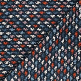 Tissu coton Dashwood Studio Woodland notions - Diapause bleu nuit x 10cm