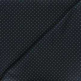 Cotton fabric - dark blue Golden dots x 10cm