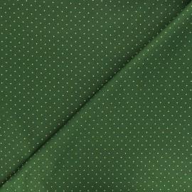 Cotton fabric - green Golden dots x 10cm