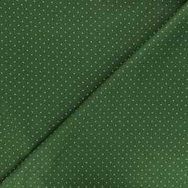 Tissu coton Golden dots - vert x 10cm