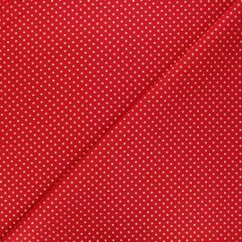 Cotton fabric - red Golden maxi dots x 10cm